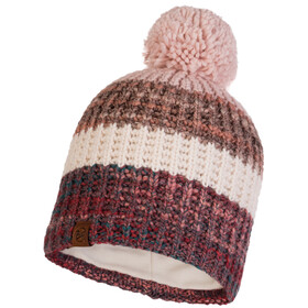 Buff Alina Knitted & Fleece Band Hat Women, beżowy/kolorowy